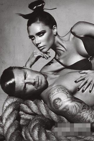 David Beckham and Victoria Adam Under Wear